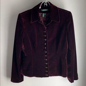 Vintage Ralph Lauren Velvet Jacket Size 8